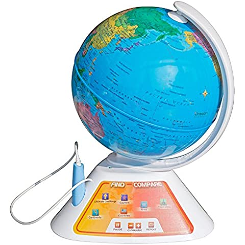 Oregon Scientific - SG268 - Aprender el Ingles con el Globo interactivo SmartGlobe Discovery parlante