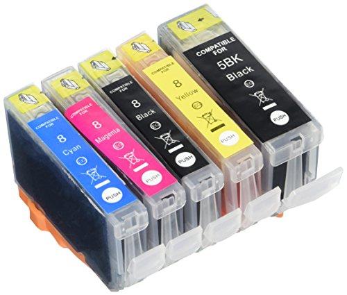 Prestige Cartridge PGI-5 CLI-8 25er Pack Druckerpatronen für Canon Pixma MP 500 530 600 R 610 800 R 810 830 950 960 970 iP 4200 4300 4500 5100 5200 R 5300 schwarz photoschwarz cyan magenta gelb