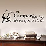Fandhyy Ne Old Campelives Here with The Spank of His Life Adesivi Rimovibili Arte Vinile Murale Home Room Decor Wall Stickers 91Cmx31Cm