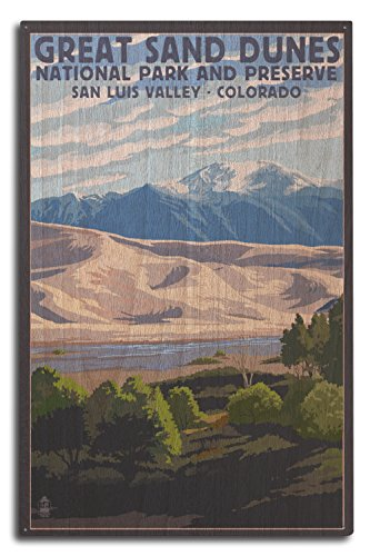 Great Sand Dunes National Park und wertvolle, Colorado, holz, mehrfarbig, 10 x 15 Wood Sign