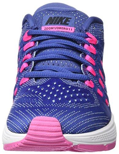 Nike Donna WMNS  Air Zoom Vomero 11 Scarpe Running Viola (Morado (Dk Prpl Dst / Blk-Pnk Blst-Bl Gr))