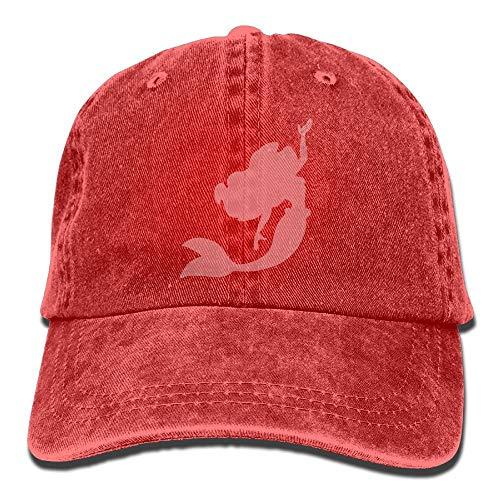 Xdevrbk Männer Frauen Meerjungfrau Rosa Garn-Dyed Denim Baseball-Mütze Einstellbar Hip Hop Caps Multicolor59