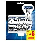 Gillette Mach3 Turbo Rasoir Pour Homme + 6 Lames