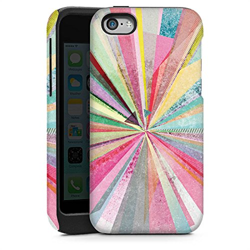 Apple iPhone 5s Housse Étui Protection Coque Arc-en-ciel Couleurs Diamant Cas Tough brillant