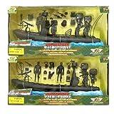 World Peacekeepers - Bateau de patrouille militaire & 3 Figurines