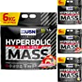 USN Hyperbolic Mass All in One Weight Gainer 6KG Muscle Fuel Gain Anabolic Powder from USN Hardcore Series