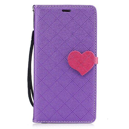 Qiaogle Téléphone Coque - PU Cuir rabat Wallet Housse Case pour Apple iPhone 6 Plus / iPhone 6S Plus (5.5 Pouce) - BF88 / Blanc BF89 / Violet