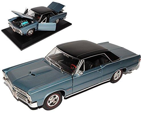 pontiac-gto-1965-coupe-hurst-edition-blau-grau-1-18-maisto-modellauto-modell-auto