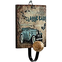 Forepin® Retro Europea Modello Jeep Classico Appendiabiti Supporto Gancio a Muro Parete Hanger per Vestiti, Cappotto, Tovagliolo, Accappatoio Porta Hanger - Disegno Vintage 2