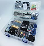 jdhlabstech Mega 2560 Starter Kit Ultra (100% Compatible con Arduino IDE) con Adaptador 12V/2A (EU/UK), WiFi, Bluetooth, Sensores, Modulos, Kit de Resistores y Componentes