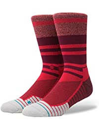 Stance Athletic Fusion Mens Socks ~ Meara Crew red