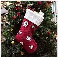 SOPOUITRO Exterior Interior Calcetines de Navidad de Copo de Nieve Embalaje Bolsas de Ornamento de árbol