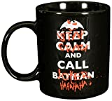 Batman 0122041 - Tasse Keep Calm and Call Stay Crazy and Call Joker, Porzellan, Keramik, schwarz, Circa 300 ml, 12 x 7,5 x 9,30 cm
