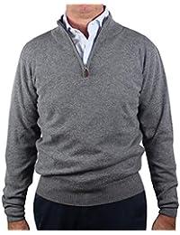 1stAmerican Winter längarmige Pullover mit halbem Reissverschluss Herren in  verschieden Farben aus Wolle - Pullover mit 4e843555f0