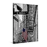 Premium Textil-Leinwand 80 cm x 120 cm hoch, New York - Wall Street | Wandbild, Bild auf Keilrahmen, Fertigbild auf echter Leinwand, Leinwanddruck: New York - Wall Street - Colorkey (CALVENDO Orte);CALVENDO Orte