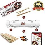Dispositivo a Sushi e Makis grazie myself–Sushi Bazooka–Kit Sushi Maker con eBook entrate + 2paia di bacchette + Supporto + Stuoia a Sushi in bambù