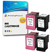 4 XL Compatibles HP 901XL Cartuchos de tinta para Officejet 4500 J4500 J4524 J4535 J4540 J4550 J4580 J4585 J4600 J4624 J4660 J4680 J4680C G510a G510g G510n - Negro/Color, Alta Capacidad