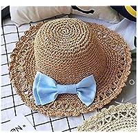 Young shinee Cappello per Bambini Cappello da Spiaggia per Bambini Hatknot  Packable Cappello di Paglia per 38092e3b1cf6