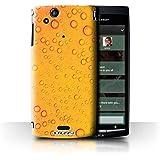 Carcasa/Funda STUFF4 dura para el Sony Xperia Arc S/LT18i / serie: Gotitas de Agua - Naranja/Amarillo