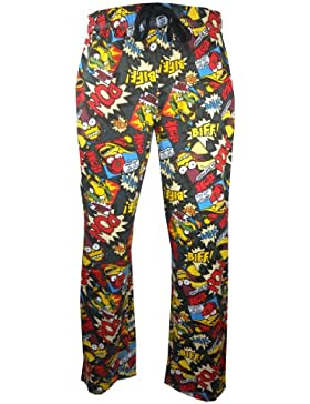 Mens Biff Pow Simpsons Loungepants in large sizes