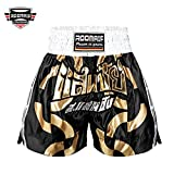 ROOMAIF Pantalones Muay Thai Pantalones de Kick Boxing Short de Kick Boxing...
