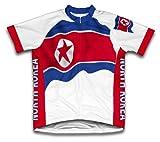 North Korea Bandera Maillot de Ciclismo Manga Corta para Hombre - Talla XL