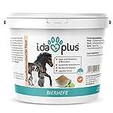 Ida Plus - Reine BIERHEFE Pulver - Nahrungsergänzung für Haut & Fellglanz - Naturprodukt für Tiere - Pferde, Hunde, Katzen - Praktischer Dosierlöffel inklusive (1.5 kg)