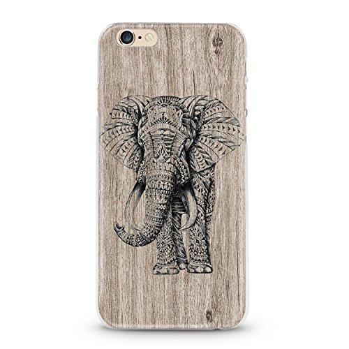 Handyhülle für Apple iPhone 7 ( Anker pink ) - Hülle - Schutzhülle mit Motiv - TPU Silikon Hülle - Case - Cover - Schale - Backcover - Handytasche Elefant