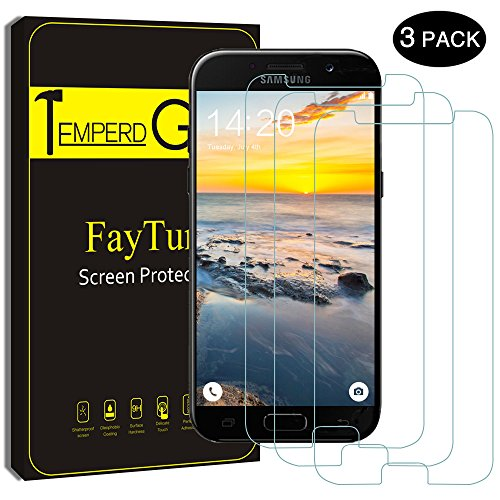 Screen Protector for Samsung A5 2017, FayTun 3-Pack High Definition 9H Hardness Fingerprint Resistant Bubble Free Tempered Ultra Thin Glass Screen Protector Film For Samsung Galaxy A5 2017