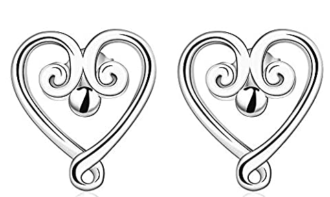 SaySure - Jewelry Silver Plated cloud heart Earrings