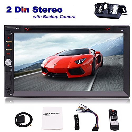EINCAR Free Car Rear View Camera Wince 7-Zoll-Doppel-DIN-TFT-LCD-Touchscreen im Schlag-Auto Stereo-Receiver GPS-Navigation Audio Video Player Bluetooth FM/AM Radio TF/USB/AUX/SWC + Fern Lcd Rear View Camera