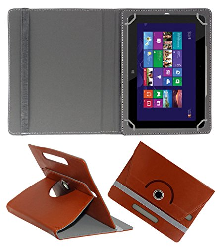 ACM ROTATING 360° LEATHER FLIP CASE FOR HP OMNI 10 TABLET STAND COVER HOLDER BROWN  available at amazon for Rs.189