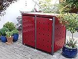 Mülltonnenbox Quadra aus Metall 2x 120 Liter