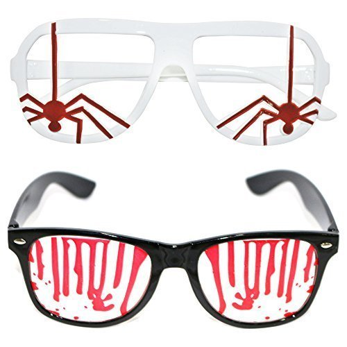 (Halloween Blut splatted Brillen und Spider Set)