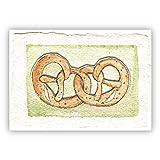 Leckere Brezel Grußkarte ob als Picknick Einladung oder zum Oktoberfest