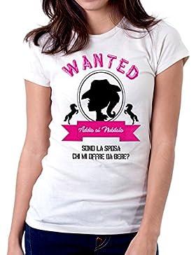 Tshirt Addio al nubilato - wanted - ricercato - sono la sposa chi offre da bere? - evento - idea regalo - Tutte...