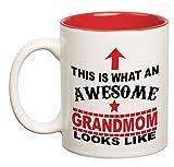 Best Grandmas - Awesome Grandmom Double Color |Coffee Mugs for Grandmother/Grandma Review