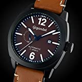 Gigandet Automatik Herren-Armbanduhr Red Baron III Fliegeruhr Uhr Datum Analog Braun Schwarz G16-001 - 3