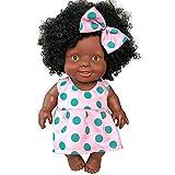 Babypuppe,Marlene Baby bewegliche gemeinsame afrikanische Puppe Spielzeug Schwarze Puppe Spielzeug