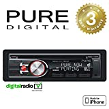 Pure Highway H270SB Car DAB Digital Radio/CD with iPod/iPhone Connection and Bluetooth, Black