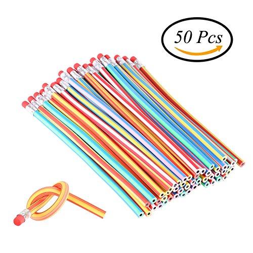 Ccinee Weiche, flexible Stifte, biegsame, magische Bleistifte für Kinder, als Schulspaßzubehör und für Party-Tüten (Bleistift Biegsamer)