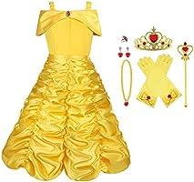 Vicloon - Disfraz de Princesa Elsa/Capa Disfraces/Belle Vestido y Accesorios para Niñas- Reino de Hielo - para...