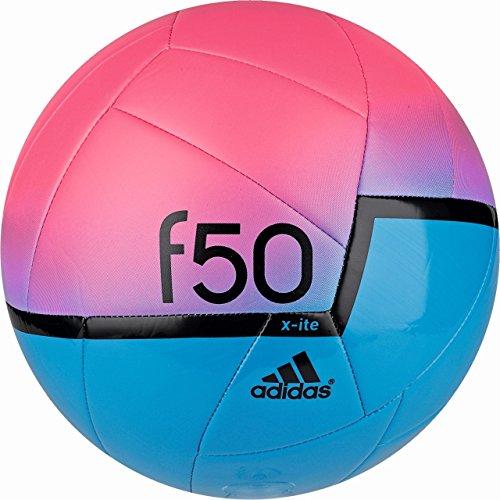 adidas Herren Fußball F50 X-ITE, Solar Blue2 S14/Neon Pink/Black, 5 - Neon Ball Fußball Adidas