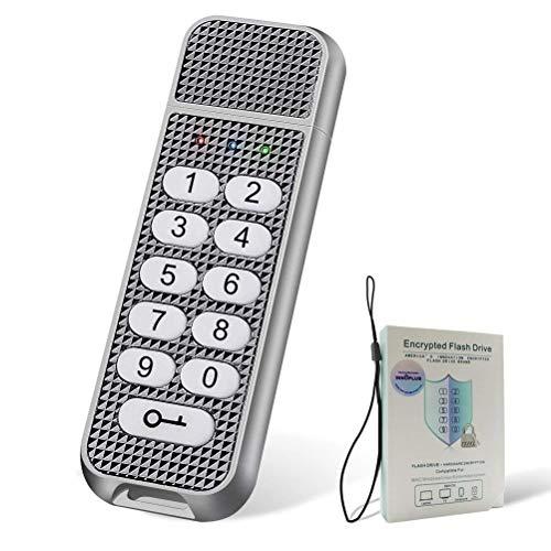 Aes-verschlüsselung-schlüssel (USB-Stick, innoplus Digital 32 GB militärtauglichem Sicher Schlüssel verschlüsselt AES-Xts 256-bit SMS4 Verschlüsselung USB Drive mit Keypad Schwarz NEW32G)