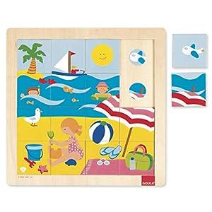 Goula - Puzzle Verano, 16 Piezas de Madera (Diset 53086)