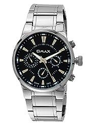 OMAX Analog Black Dial Mens Watch - SS613