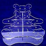 Super Cool Creations 30cm de diámetro Teddy Bear Cake Pop con soporte y 32agujeros 5cm de separación, acrílico, transparente