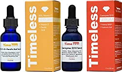 Timeless Skin Care Vitamin C+e Ferulic Acid & Coenzyme Q10 W Matrixyl 3000 Serums - 1 Of Each (1oz 30ml Size) - Authorised Uk Seller - Fresh, & Sealed