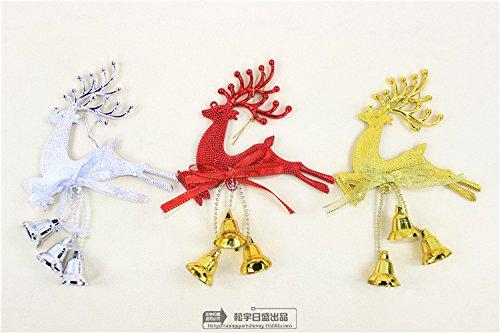 Piccolo albero di Natale campane della renna di Natale Bell cervi ornamenti elementi puntelli decorazioni
