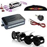 Kit de coche Auto LED de marcha atrás para ayuda en el aparcamiento 4sensores zumbador Alarma Sistema de audio pantalla
